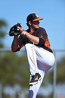 Miami Marlins pitcher Ryan Newell (62) before a minor league spring training game against the St. Louis Cardinals on March 31, 2015 at the Roger Dean Complex in Jupiter, Florida.  (Mike Janes/Four Seam Images)