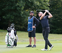 4th July 2021; Mount Juliet Golf Club, Kilkenny, Ireland; Dubai Duty Free Irish Open Golf, Day Four; Maximilian of Germany takes his fourth shot from the fairway on the 7th hole