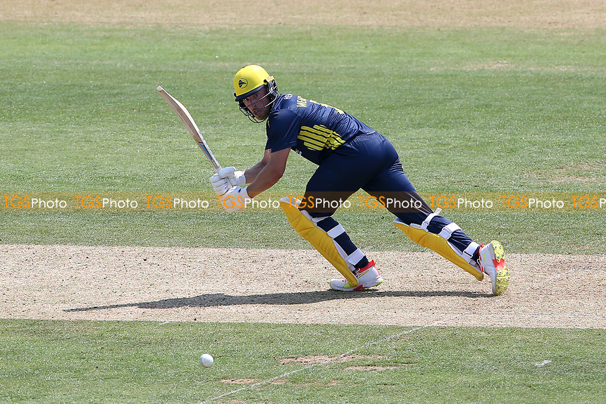 Joe Weatherley in batting action for Hampshire during Hampshire Hawks vs Essex Eagles, Royal London One-Day Cup Cricket at The Ageas Bowl on 22nd July 2021
