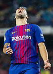 Luis Alberto Suarez Diaz of FC Barcelona reacts during the La Liga 2017-18 match between FC Barcelona and Sevilla FC at Camp Nou on November 04 2017 in Barcelona, Spain. Photo by Vicens Gimenez / Power Sport Images