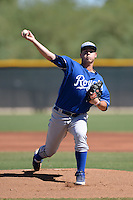 Kansas City Royals pitcher Jake Newberry (38) during an instructional league game against the Seattle Mariners on October 2, 2013 at Surprise Stadium Training Complex in Surprise, Arizona.  (Mike Janes/Four Seam Images)