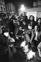 - Milan, demonstration in front of town hall for the right to the house (December 1974) ....- Milano, manifestazione davanti al palazzo del Comune per il diritto alla casa (dicembre 1974)
