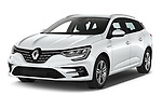 2020 Renault Megane Intens 5 Door Wagon Angular Front automotive stock photos of front three quarter view