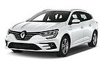 2020 Renault Megane Intens 5 Door Wagon Angular Front automotive stock photos of front three quarter view