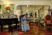 Former first Lady Imelda Marcos of the Philippines in her apartment in Makati, Manila in 2006, a rare interview seldom granted