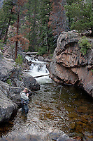 Published on the Cover of Southwest Fly Fishing - March 12 <br /> Jason Matthies fishes for Brown and Brook (and maybe a Cutthroat) in RMNP