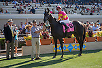 DEL MAR,CA-SEPTEMBER 04: Avenge,ridden by Fravien Prat,wins the John C. Mabee Stakes at Del Mar Race Track on September 04,2016 in Del Mar,California (Photo by Kaz Ishida/Eclipse Sportswire/Getty Images)