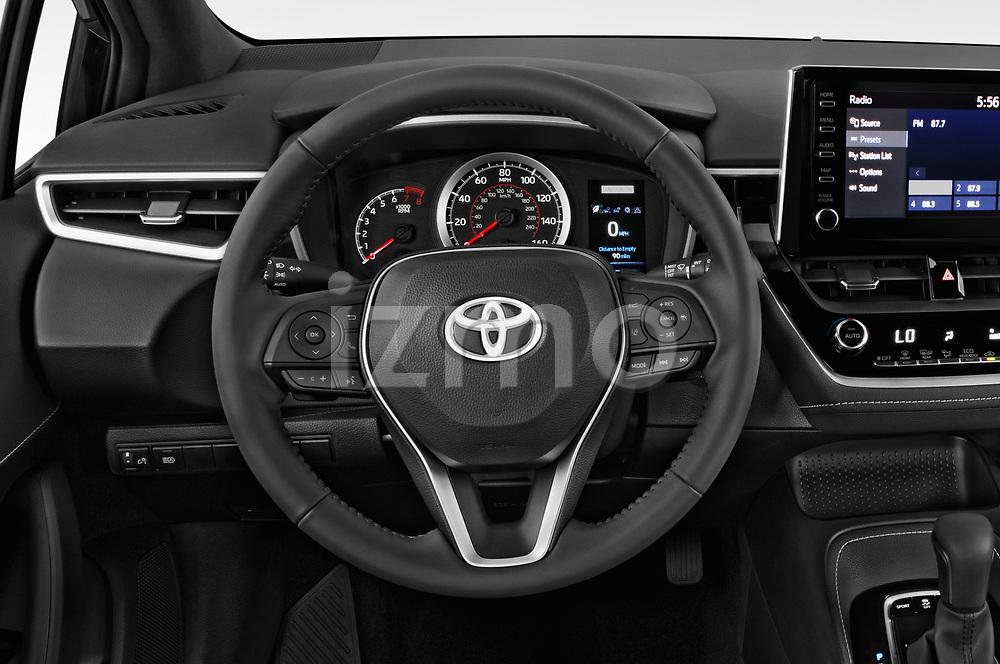 Car pictures of steering wheel view of a 2019 Toyota Corolla SE 5 Door Hatchback Steering Wheel