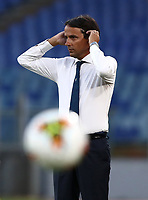 Football, Serie A: S.S. Lazio - Brescia, Olympic stadium, Rome, July 29, 2020. <br /> Lazio's coach Simone Inzaghi gestures during the Italian Serie A football match between S.S. Lazio and Brescia at Rome's Olympic stadium, Rome, on July 29, 2020. <br /> UPDATE IMAGES PRESS/Isabella Bonotto