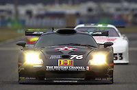 The Gunner Racing GT1 Porsche that Paul Newman would drive in the 24 Hours. The cars number, 76, is also Newman's age..39th Rolex 24 at Daytona, 3/4 February,2001 Daytona International Speedway  Daytona Beach,Florida,USA.©F.Peirce Williams 2001 ..