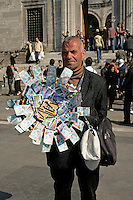 Lottery ticket seller in Eminonu, Istanbul, Turkey