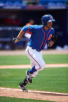 St. Lucie Mets designated hitter Wuilmer Becerra (20) during a game against the Brevard County Manatees on April 17, 2016 at Tradition Field in Port St. Lucie, Florida.  Brevard County defeated St. Lucie 13-0.  (Mike Janes/Four Seam Images)