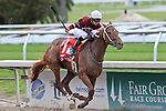 NEW ORLEANS, LA - MARCH 26:  Gun Runner #1 ridden by Florent Geroux wins the 103rd Louisiana Derby at Fairgrounds Race Course on March 26, 2016 in New Orleans, Louisiana. (Photo by Steve Dalmado/Eclipse Sportswire/Getty Images)