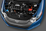 High angle engine detail of a 2010 Honda Insight EXL .