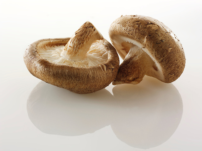 Raw  fresh organic Shiitake  mushrooms