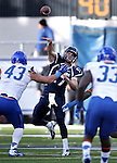 Nevada quarterback Cody Fajardo passess against Boise State in the second half of an NCAA college football game on Saturday, Dec. 1, 2012, in Reno, Nev. Boise State won 27-21. (AP Photo/Cathleen Allison)