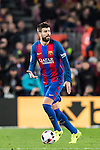 Gerard Pique Bernabeu of FC Barcelona in action during their Copa del Rey 2016-17 Semi-final match between FC Barcelona and Atletico de Madrid at the Camp Nou on 07 February 2017 in Barcelona, Spain. Photo by Diego Gonzalez Souto / Power Sport Images