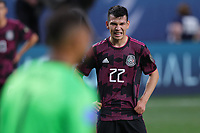 6th June 2021. Denver, Colorado, USA;  Mexico forward Hirving Lozano (22) reacts after missing a scoring opportunity  during the CONCACAF Nations League finals between Mexico and the United States  at Empower Field at Mile High in Denver, CO.