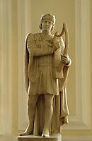 Großbritannien, Wales, Cardiff, Rathaus, Statue von Daffyd ap Gwylim.townhall in Cardiff