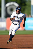 West Michigan Whitecaps outfielder Wynton Bernard (36) runs the bases during a game against the Great Lakes Loons on June 5, 2014 at Fifth Third Ballpark in Comstock Park, Michigan.  West Michigan defeated Great Lakes 6-2.  (Mike Janes/Four Seam Images)