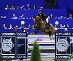 OMAHA, NEBRASKA - APR 2: Christian Heineking rides NKH Caruso during the Longines FEI World Cup Jumping Final at the CenturyLink Center on April 2, 2017 in Omaha, Nebraska. (Photo by Taylor Pence/Eclipse Sportswire/Getty Images)