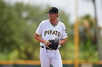 GCL Pirates pitcher Jake Sweeney (65) during a Gulf Coast League game against the GCL Twins on August 6, 2019 at Pirate City in Bradenton, Florida.  GCL Twins defeated the GCL Pirates 1-0 in the second game of a doubleheader.  (Mike Janes/Four Seam Images)
