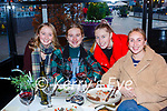 Elaina Galvin, Rebecca Murphy, Jessica Galvin and Jessica O'Sullivan Killarney catching up over a meal at the International Hotel on Saturday