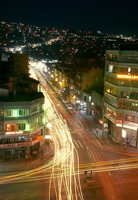 Izmir Night Street Scene