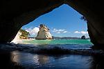 New Zealand, North Island, Coromandel Peninsula: Cathedral Cove | Neuseeland, Nordinsel, Coromandel Halbinsel: Cathedral Cove