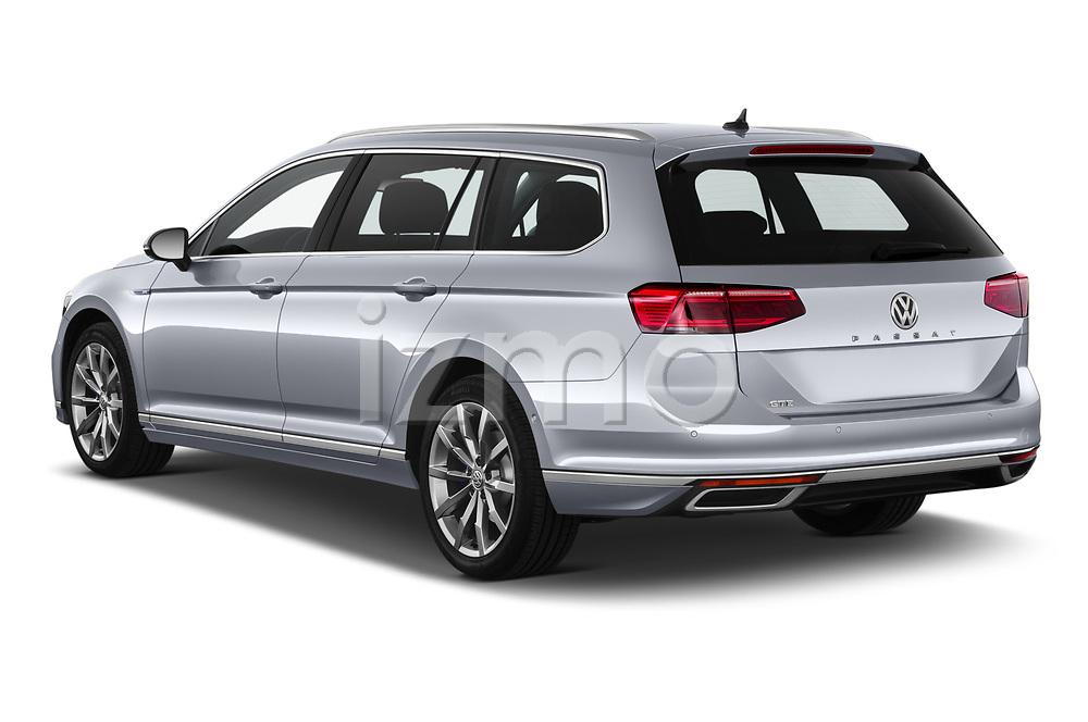 Car pictures of rear three quarter view of 2020 Volkswagen Passat GTE 5 Door Wagon Angular Rear