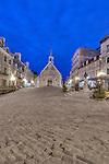 Canada, Quebec, Quebec City, Place Royale Dawn