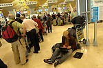 MADRID, Spain (19/04/10).-  Aeropuerto de Madrid Barajas. Crisis del trafico aereo por nube volcanica. Airport Madrid Barajas. Crisis in air traffic by volcanic cloud...Photo: Raul Perez / ALFAQUI.