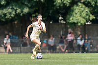 NEWTON, MA - SEPTEMBER 12: Michela Agresti #23 of Boston College brings the ball forward during a game between Holy Cross and Boston College at Newton Campus Soccer Field on September 12, 2021 in Newton, Massachusetts.