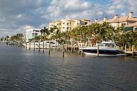 Ft. Lauderdale, Florida.  Boat Marina off E. Las Olas Blvd.