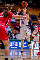 26 January 2019: University of Vermont Catamount Forward Hanna Crymble, a Junior from Champlin, MN, in action against the Stony Brook Seawolves at Patrick Gymnasium in Burlington, Vermont. The Lady Seawolves defeated the Lady Catamounts 67-61 in America East Women's Basketball. Mandatory Credit: Ed Wolfstein Photo *** RAW (NEF) Image File Available ***