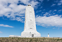 Mounument commemorating historic first flight, Wright Brothers National Memorial,  Kill Devil Hills, Outer Banks, North Carolina, USA