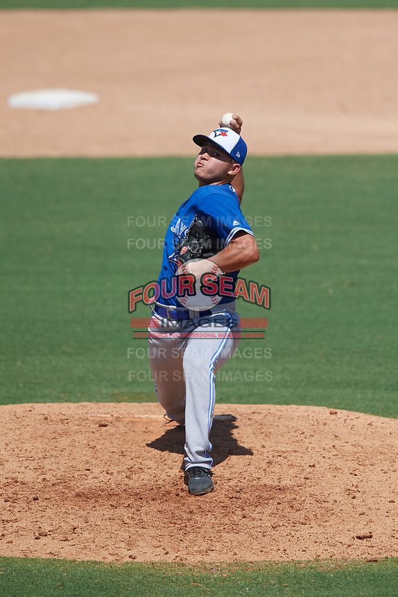 Toronto Blue Jays pitcher Adrian Hernandez (15) during an Instructional League game against the Philadelphia Phillies on September 17, 2019 at Spectrum Field in Clearwater, Florida.  (Mike Janes/Four Seam Images)