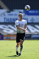 Ryan Bennett of Swansea City during the Sky Bet Championship match Swansea City and Wycombe Wanderers at Liberty Stadium in Swansea, Wales. Sporting stadiums around the UK remain under strict restrictions due to the Coronavirus Pandemic as Government social distancing laws prohibit fans inside venues resulting in games being played behind closed doors.<br /> Saturday 17 April 2021