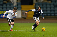 16th March 2021; Dens Park, Dundee, Scotland; Scottish Championship Football, Dundee FC versus Ayr United; Jordan Marshall of Dundee goes past Cammy Smith of Ayr United