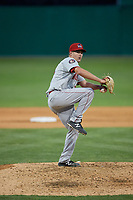 Auburn Doubledays pitcher Evan Lee (11) during a NY-Penn League game against the Batavia Muckdogs on June 14, 2019 at Dwyer Stadium in Batavia, New York.  Batavia defeated 2-0.  (Mike Janes/Four Seam Images)