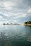 Croatia, Istria, Porec: old town on a narrow headland in the Adriatic Sea | Kroatien, Istrien, Porec: die Altstadt von Porec ragt auf einer schmalen Landzunge hinaus in die Adria