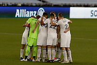 ST PAUL, MN - NOVEMBER 4: Chicago Fire FC huddle during a game between Chicago Fire and Minnesota United FC at Allianz Field on November 4, 2020 in St Paul, Minnesota.