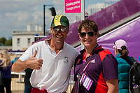 AUS-Paul Tapner enjoys the day: 2012 LONDON OLYMPICS (Monday 30 July 2012) EVENTING CROSS COUNTRY: