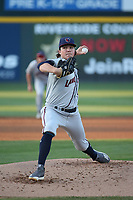 Ryan Rolison (14) of the Lancaster JetHawks pitches against the Rancho Cucamonga Quakes at LoanMart Field on June 4, 2019 in Rancho Cucamonga, California. (Larry Goren/Four Seam Images)