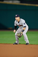 Scranton/Wilkes-Barre RailRiders second baseman Billy Fleming (29) during the second game of a doubleheader against the Rochester Red Wings on August 23, 2017 at Frontier Field in Rochester, New York.  Rochester defeated Scranton 1-0.  (Mike Janes/Four Seam Images)