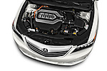 Car stock 2017 Acura RLX Sport Hybrid 4 Door Sedan engine high angle detail view