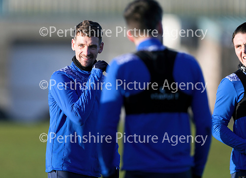 St Johnstone Training…. 22.12.20<br />Craig Bryson pictured during training at McDiarmid Park<br />Picture by Graeme Hart.<br />Copyright Perthshire Picture Agency<br />Tel: 01738 623350  Mobile: 07990 594431