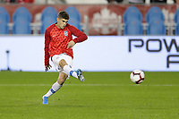 TORONTO, ON - OCTOBER 15: Christian Pulisic #10 of the United States warming up during a game between Canada and USMNT at BMO Field on October 15, 2019 in Toronto, Canada.