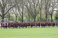 Team der Rüsselsheim Crusaders - 08.04.2017: Rüsselsheim Crusaders vs. Nauheim Wildboys, Stadion am Sommerdamm