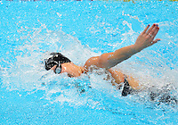 July 28, 2012: Jessica Hardy of USA competes in women's 4x100m freestyle relay final at the Aquatics Center on day one of 2012 Olympic Games in London, United Kingdom.